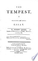The Tempest  a Religious and Moral Essay
