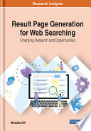Result Page Generation for Web Searching  Emerging Research and Opportunities Book
