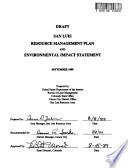 San Luis Resource Area Resource s  Management Plan  RMP