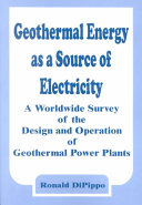 Geothermal Energy as a Source of Electricity Book
