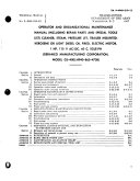 Operator and Organizational Maintenance Manual (including Repair Parts and Special Tools List)