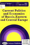 Current Politics and Economics of Russia  Eastern and Central Europe