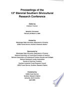 Proceedings Of The 13th Biennial Southern Silvicultural Research Conference Book