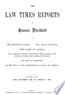 The Law Times Reports Book