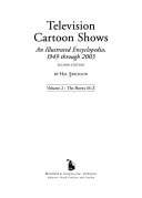 Television Cartoon Shows  The shows  M Z