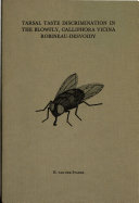 Tarsal Taste Discrimination in The Blowfly, Calliphora Vicina Robineau-Desvoidy ebook