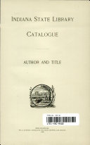 Indiana State Library Catalogue