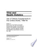 Use of Dietary Supplements in the United States, 1988-94
