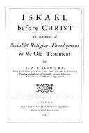 Israel Before Christ