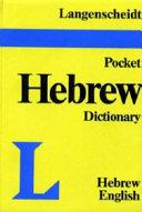 Langenscheidt s Pocket Hebrew Dictionary to the Old Testament