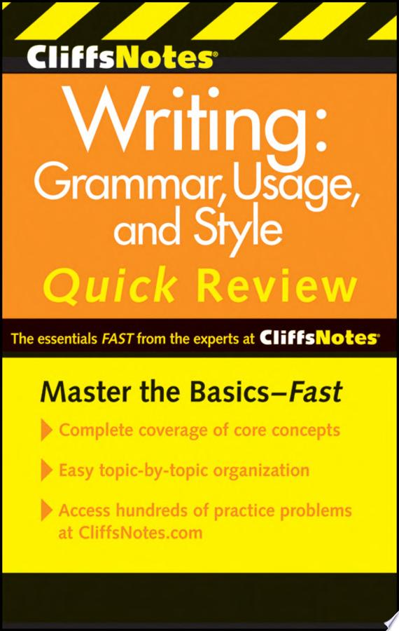 CliffsNotes Writing