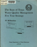The State of Texas Water Quality Management