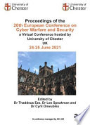 ECCWS 2021 20th European Conference on Cyber Warfare and Security Book