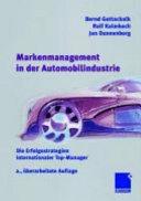 Markenmanagement in der Automobilindustrie: Die Erfolgsstrategien ...