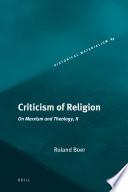 Criticism of Religion