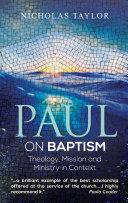 Paul on Baptism Pdf/ePub eBook