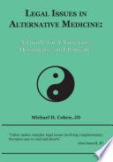 Legal Issues in Alternative Medicine Book