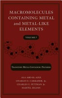Nanoscale Interactions Of Metal Containing Polymers Book PDF
