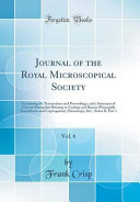 Journal Of The Royal Microscopical Society Vol 6