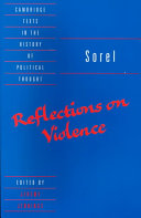 Sorel  Reflections on Violence
