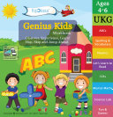 Genius Kids Worksheets for Ukg   Set of 8 Workbooks for UKG  KG 2 and Montessori  4 6 yrs    Math   Logic  English  Science  Games   Activities