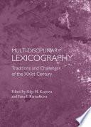 Multi Disciplinary Lexicography