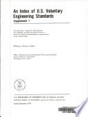 An Index of U S  Voluntary Engineering Standards  Supplement