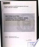 Western Electric Coordinating Council Wind Generator Development