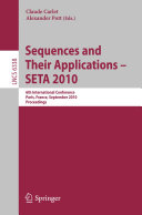 Sequences and Their Applications   SETA 2010