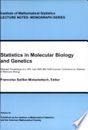 Statistics In Molecular Biology And Genetics
