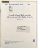 Network Effects of the Productivity of Infrastructure in Developing Countries