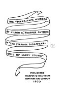 The Ticker tape Murder Book