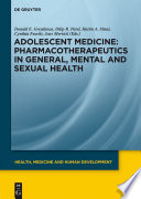 Pharmacotherapeutics In General Mental And Sexual Health Book PDF