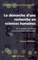 La démarche d'une recherche en sciences humaines