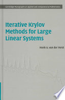 Iterative Krylov Methods for Large Linear Systems Book