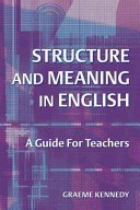Cover of Structure and Meaning in English
