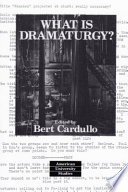 What is Dramaturgy