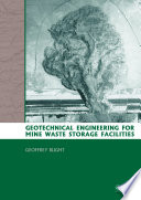Geotechnical Engineering for Mine Waste Storage Facilities Book