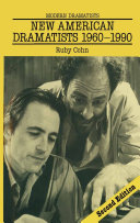New American Dramatists 1960   1990