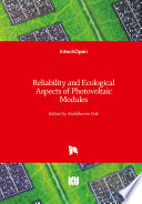Reliability And Ecological Aspects Of Photovoltaic Modules Book PDF