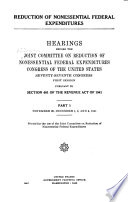 Reduction of Nonessential Federal Expenditures