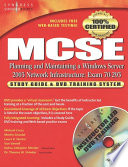 Mcse Planning And Maintaining A Microsoft Windows Server 2003 Network Infrastructure Exam 70 293  Book PDF