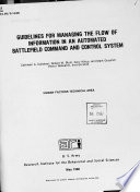 Guidelines for Managing the Flow of Information in an Automated Battlefield Command and Control System