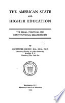 The American State And Higher Education