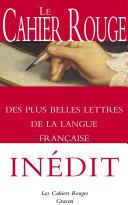 Pdf Le Cahier rouge des plus belles lettres de la langue française Telecharger