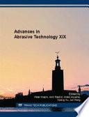 Advances in Abrasive Technology XIX