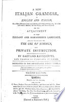 A New Italian Grammar, in English and Italian ... By Gaetano Ravizzotti .. Second Edition