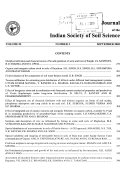 Journal of the Indian Society of Soil Science