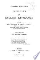 Principles of English Etymology Book PDF