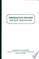 Immigration Reform and U.S. Agriculture